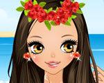 Cute Hawaiian Girl Dress Up