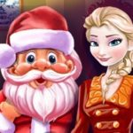 Elsa and Santa Christmas Cleaning