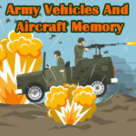 Army Vehicles And Aircraft Memory