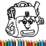 BTS School Bag Coloring Book