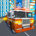Fire City Truck Rescue Driving Simulator