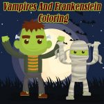 Vampires And Frankenstein Coloring