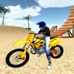 Motocross Beach Stunts Gas 3D